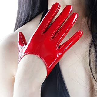 Fashion Short Latex Gloves for Women Dress Costume Wet Look Faux Patent Leather 2020 New Arrivals Live Update here
