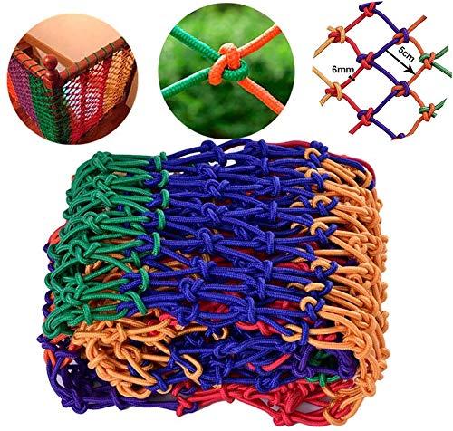 Rope Net Kinderen Bescherming Van De Veiligheid Rope Net - Vangnet Rots Touwladder Schommel Klimmen Nylon Klimmer Structuur Truck Trailer Net (size: 4mm Rope 4cm Hole) (Size : 1 * 4M)