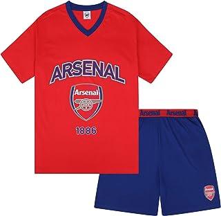 Arsenal FC Mens Pyjamas Short Loungewear Official Football Gift