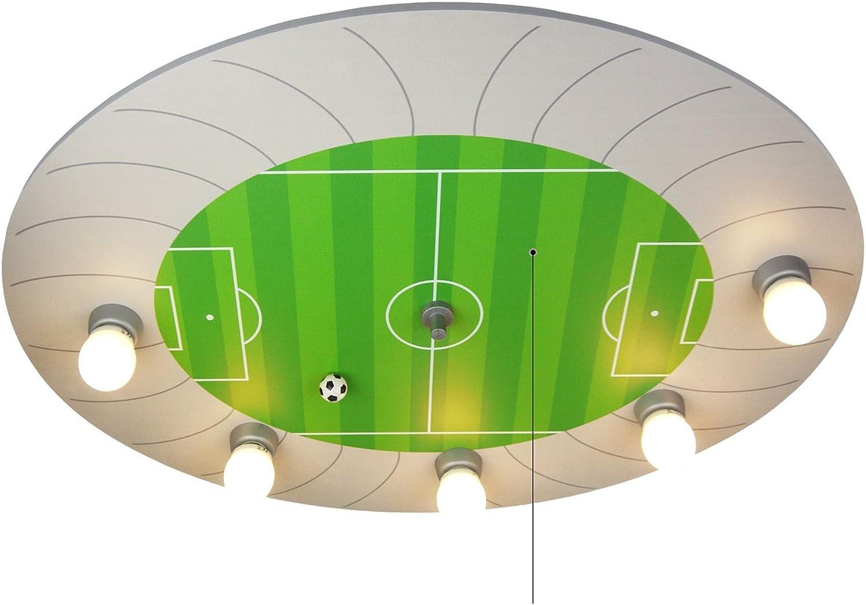 Niermann Standby Deckenleuchte Fuball-Stadion Amazon Echo kompatibel , Holz, E14, 40 W, Grün silber, 71 x 53 x 7 cm