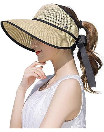 JINTN Cappello da Cowboy da Uomo a Tesa Larga in Paglia con Protezione UV