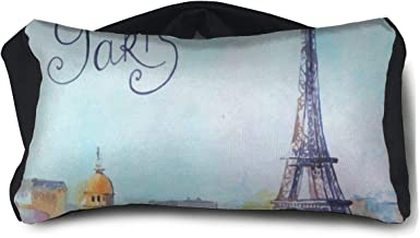 Eye Pillow Vintage Retro Eiffel Tower (2) Inspiring Eye Bag Cover Womens Portable Blindfold Train Sleep Protection