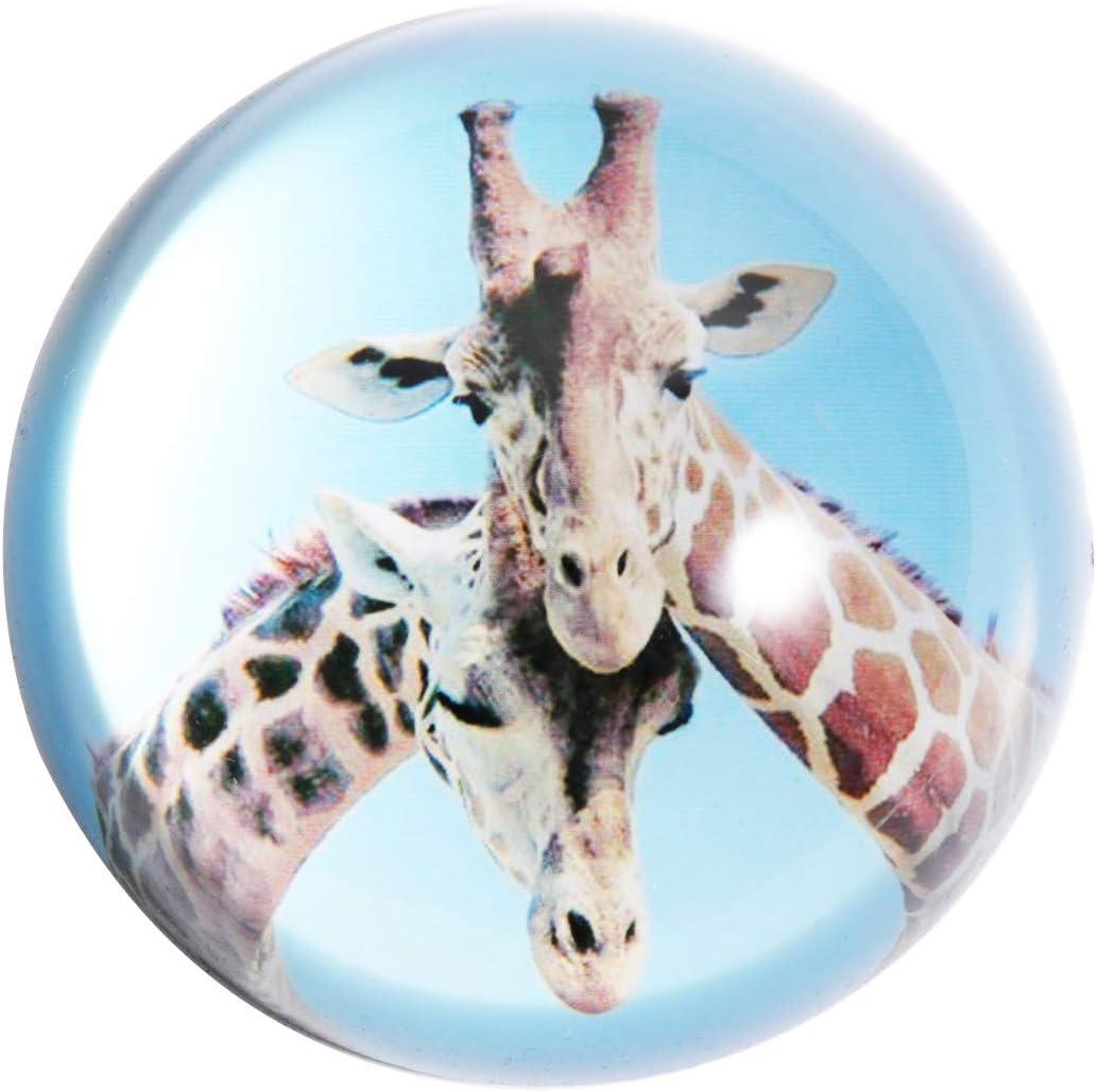HANUR CrystalPaperweight Super intense SALE Couple giraffe Hemisphere Glass New sales Globe C