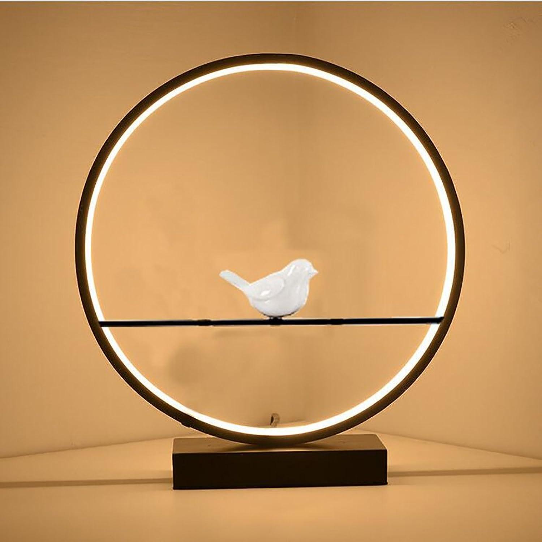 20W LED Zen Vogel Tischleuchte Runde Leselampe,Onebird