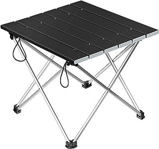 Letmy アウトドアテーブル ロールテーブル キャンプテーブル アルミ製 折りたたみ式 耐荷重35kg 軽量 耐熱 つや消し面 専用収納袋付き