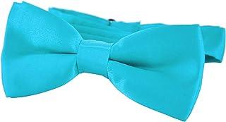 DonDon pajarita noble para niños - combinada y ajustable 9x 4,5 cm - brillada con aire de seda