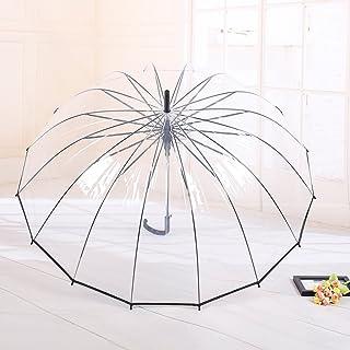 AINIYF Windproof Dome Rain Umbrella,Clear Bubble Umbrella Auto Open Fashion Dome Shaped European Hook Handle,Large Adult U...