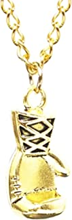 Men Women Punk Stainless Steel Boxing Glove Chain Pendant Necklace Gold