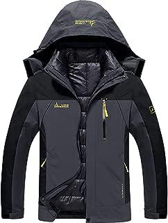 Men's Waterproof 3-in-1 Ski Snow Jacket Puffer Liner Insulated Winter Coat