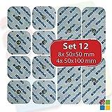 StimPads Electrodos para Compex*, Promopack con 12 electrodos (4 electrodos 50x100mm