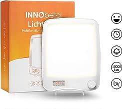10000 Lux Daylight Therapy Lamp with Wake Up Light Alarm Clock, Sunlight SAD Desk Lamp for Seasonal Depression with Sunrise Simulation & Timer, UV Free 20 Levels Brightness Natural Light - Lichtopia