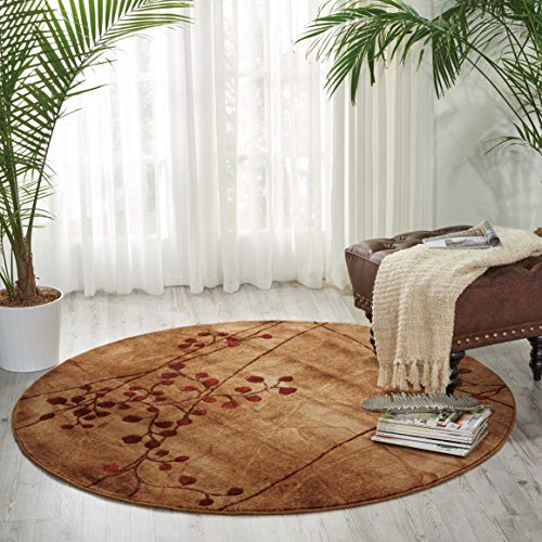 Nourison Somerset Flame Round Area Rug, 3'6