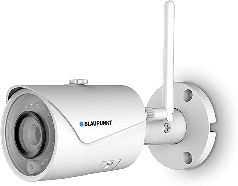 Blaupunkt VIO-B30 Cámara de Seguridad Exterior IP WiFi Cámara inalámbrica Exterior 1296P HD Cámara Impermeable visión Nocturna detección de Movimiento. Nube privada y compatibilidad ONVIF
