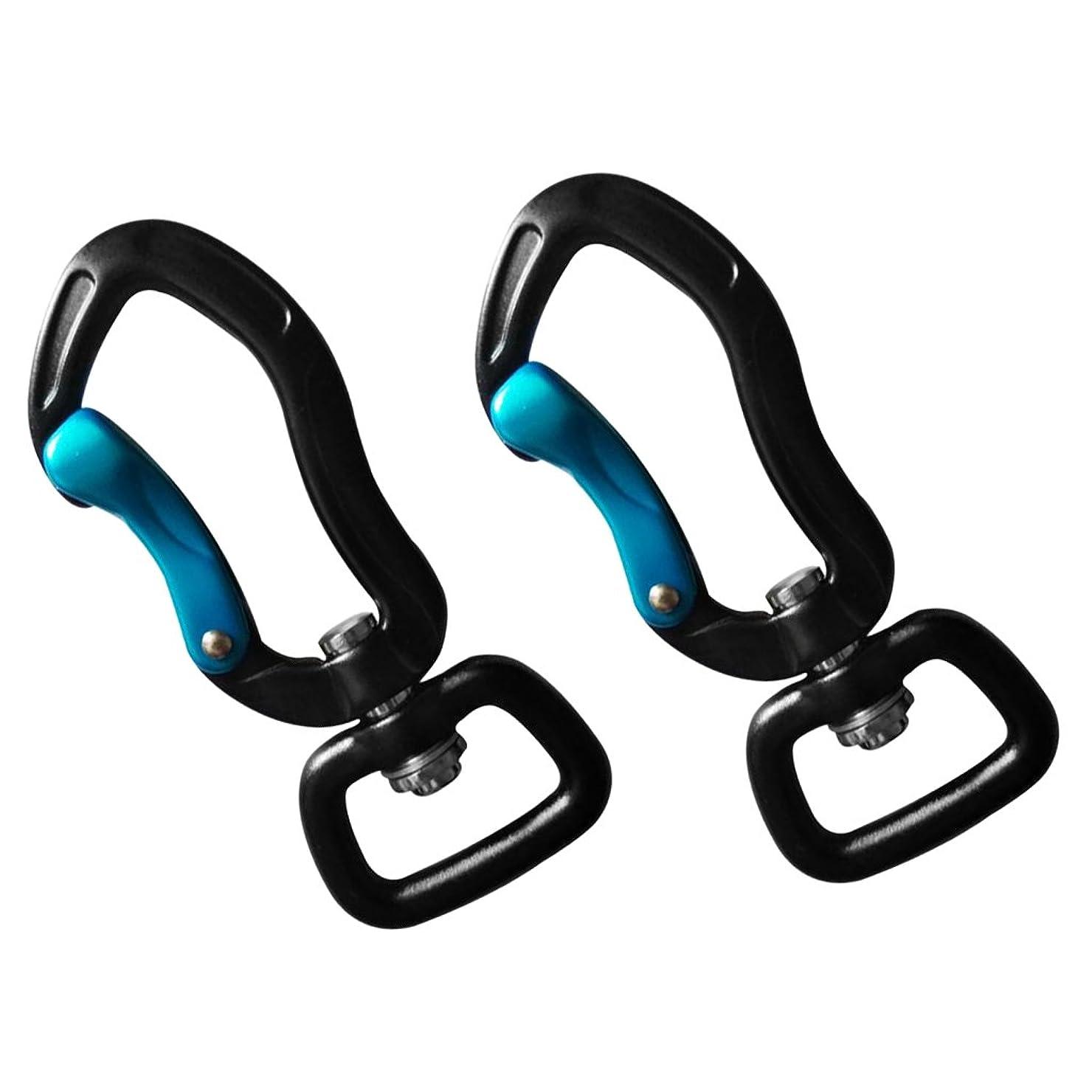 パトワポケット差別するSunniMix 1ペア 多用途 耐久性 スイベル カラビナ クリップ ハンギングフック ハイキング キャンプ用品 全11選択