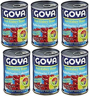 Goya Low Sodium Red Kidney Beans 15.5 oz (6 Pack) Habichuelas Coloradas Bajo en Sal