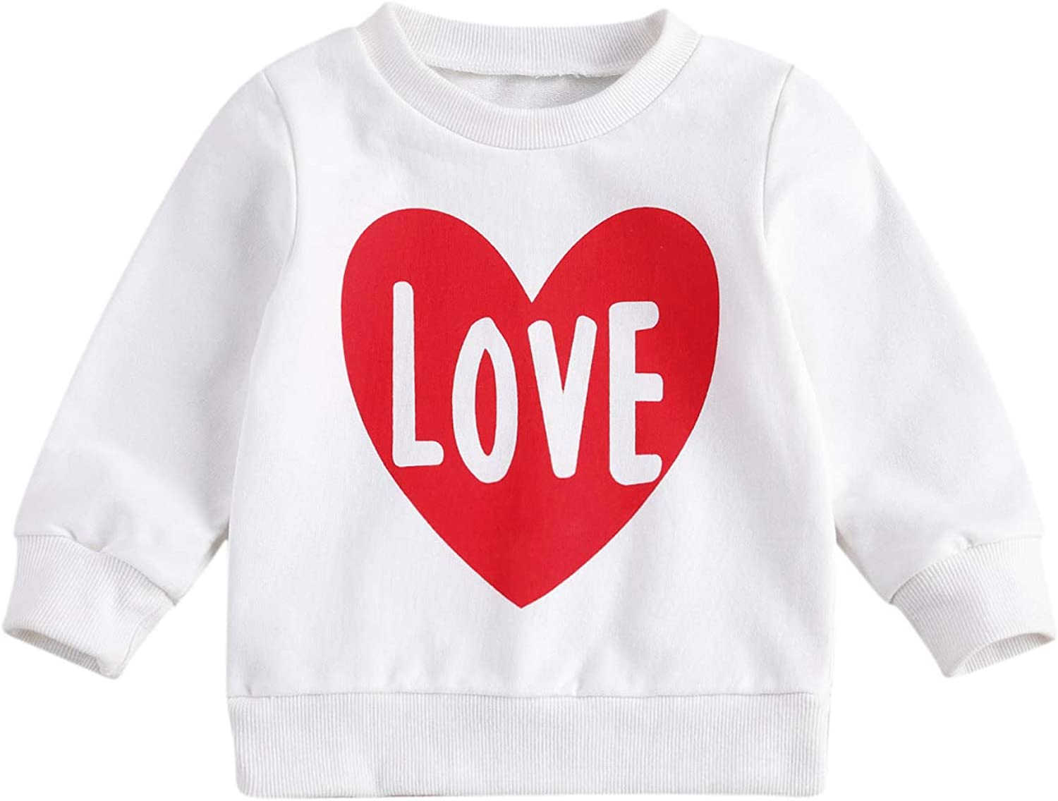 Infant Toddler Baby Girl Long Sleeve Pullover Sweatshirt Letter Print Hoodie Tops Fall Outfit Casual Clothes