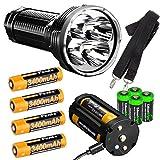 FENIX TK75 2018 version 5100 Lumen CREE LED Flashlight, 4 X Fenix 18650 ARB-L18-3400 rechargeable batteries, with four EdisonBright CR123A lithium batteries bundle