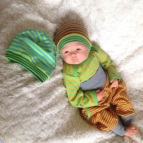 Casafeli Bio Baby Wendemütze Mütze Baumwolle kbA Gots Wendemütze 2-6 Monate