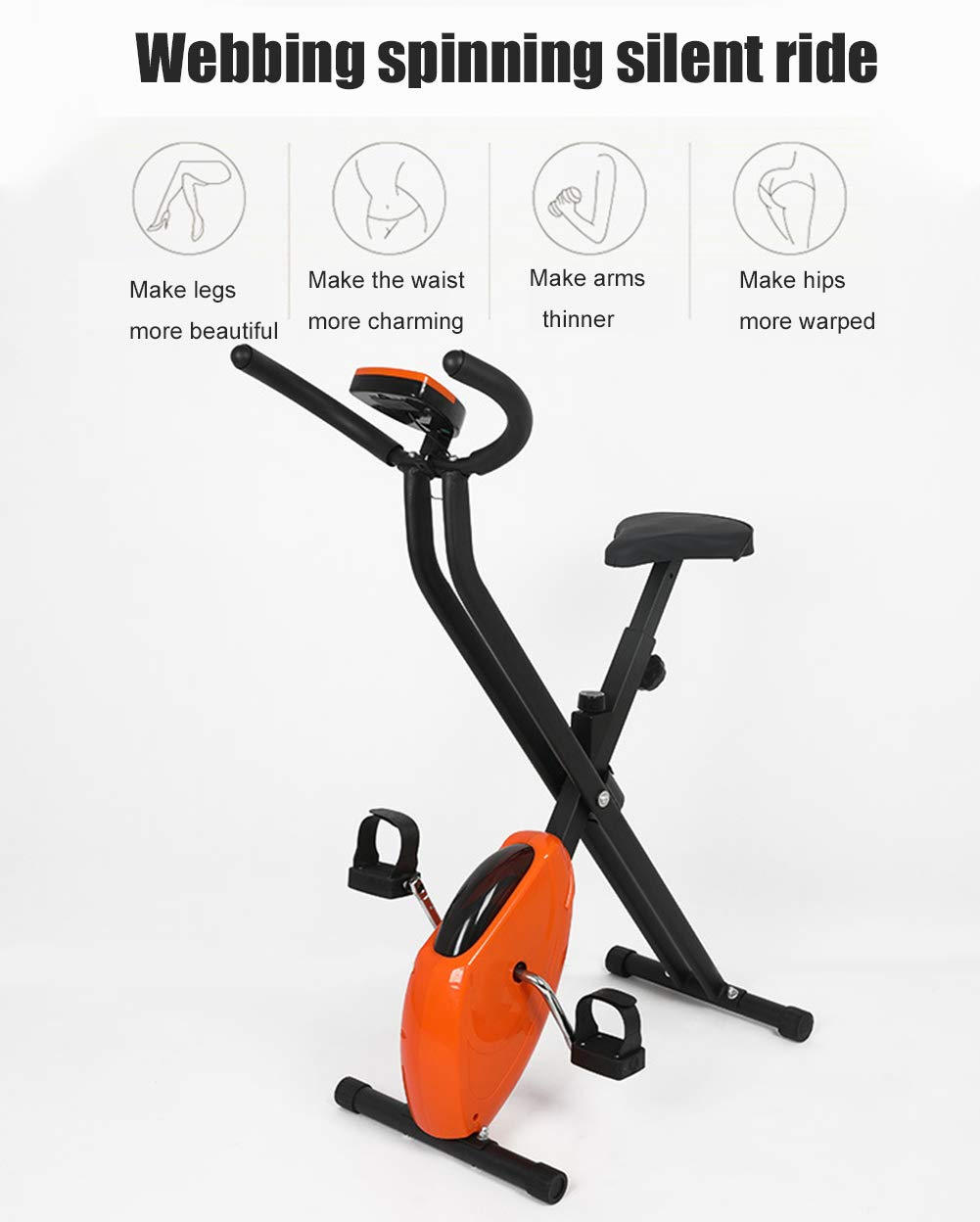 QLGRXWL Bicicleta estática para Ejercicios, Equipo de ...