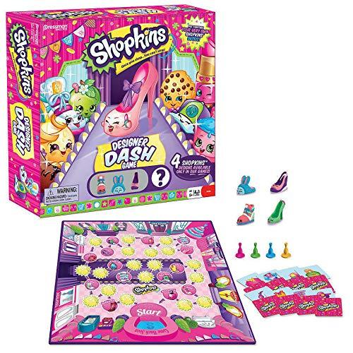 Shopkins Designer Dash Game - Includes 4 Shopkins Figures