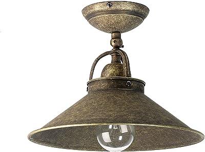 Plafonnier d'intérieur Alice en laiton de couleur bronze style Art nouveau lampe suspendue vintage E27 idéale pour le salon et le bureau