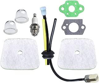 HIPA 2 Pack Air Filter + Fuel Line for Mantis Tiller/Cultivator 7222 7222E 7222M 7225 7230 7240 7920 7924 Primer Bulb Repower Kit