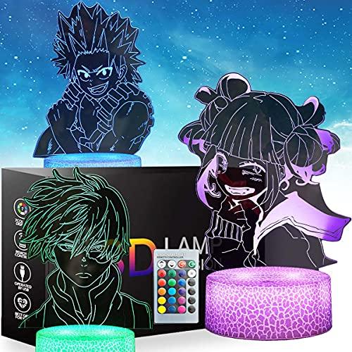 3d Anime Luz De Noche My Hero Academia With Mesa De Control Táctil y Remoto Lámpara De Escritorio Para Dormitorio Juguetes Para Niños