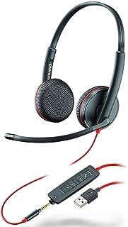 Plantronics Blackwire C3225 - Auriculares estéreo con Conector USB-A y Conector de 3,5 mm, cancelación de Ruido, Soporte d...