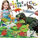 Bdwing Juego de Dinosaurios para Niños y Niñas, Pintando y Creativo DIY Juguetes 3D de 42 Piezas , Figuras de Dinosaurios Kit Manualidades para 4 5 6 7 8 9 Niños