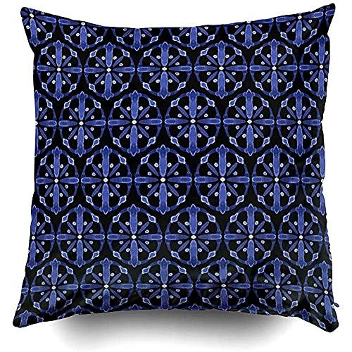 IUBBKI 1 funda de almohada de 18 x 18 pulgadas, fundas de almohada para sofá, hoja de palma, patrón de vectores tropicales, papel de follaje, árbol sin costuras, telón de fondo de arte Aloha Bac