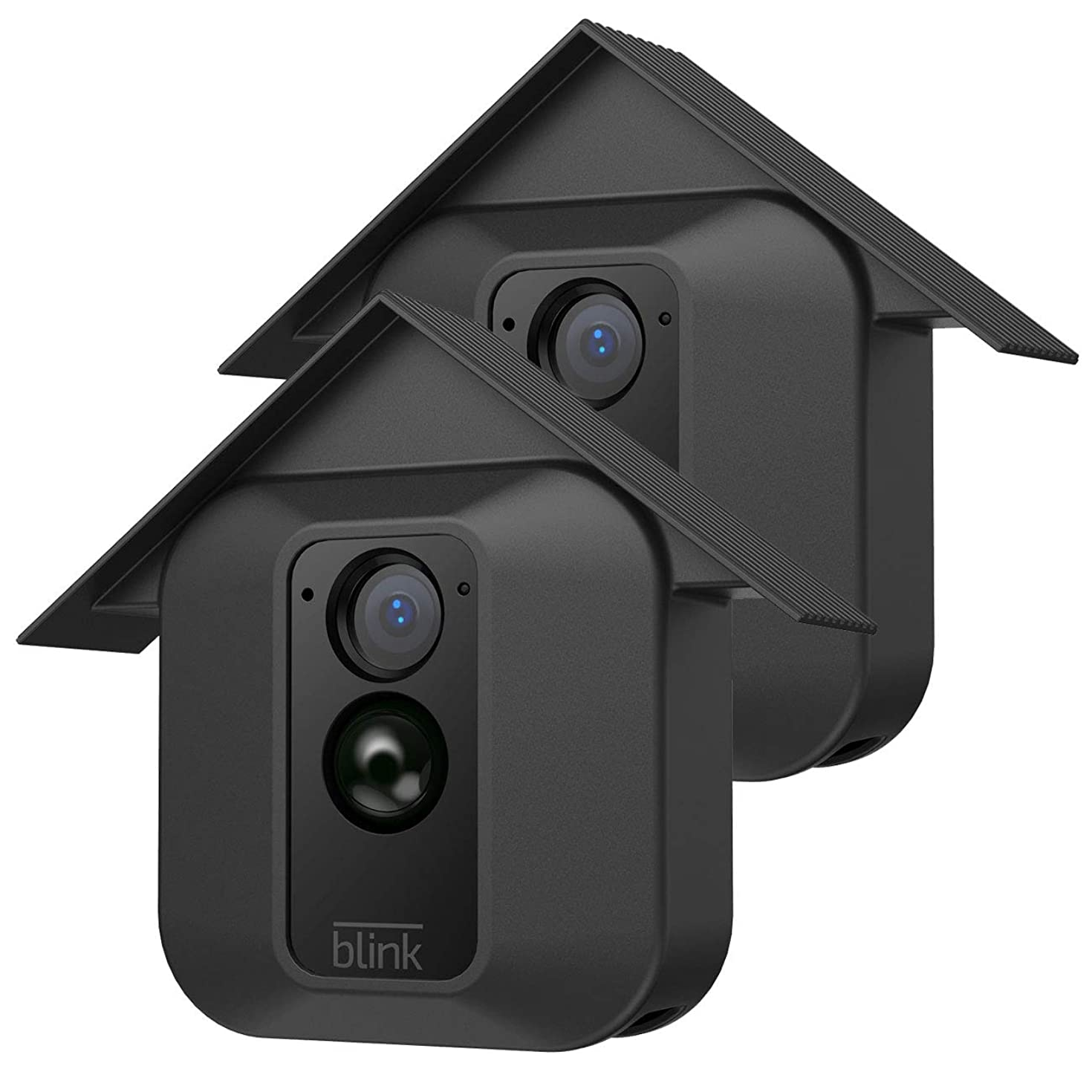 HOLACA Silicone Skin for Blink Home Security- Silicon Case for Blink XT Blink XT2 Outdoor Camera - Anti-Scratch Protective Cover - Extra Protection (2 Pack, Black)