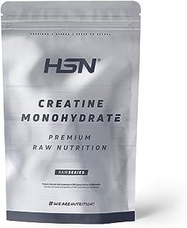 Creatina Monohidrato Micronizada en Polvo de HSN   Aumenta tu Rendimiento Deportivo, tu Energía y tu Masa Muscular, Retrasa la fatiga   Vegano, Sin Gluten, Sin Lactosa, 1Kg