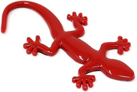 3d Emblem Gecko Mit Schaumstoff Kleberückseite Von Vmg Store Rot Auto