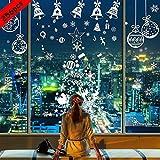 BESTZY Pegatinas de Navidad 256PCS Vinilo Navidad Copos de Nieve Adhesivos Navidad Pegatin...