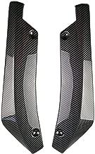Niome 2Pcs Car Universal Carbon Fiber Rear Bumper Lip Diffuser Splitter Canard Protector