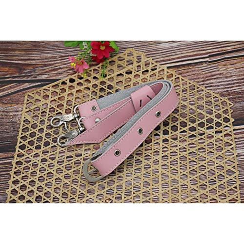 Peluquería Tijeras caso Cinturón de cuero corte de pelo corte cintura hombro cuero de vaca peluquería peluquería correa (color rosa