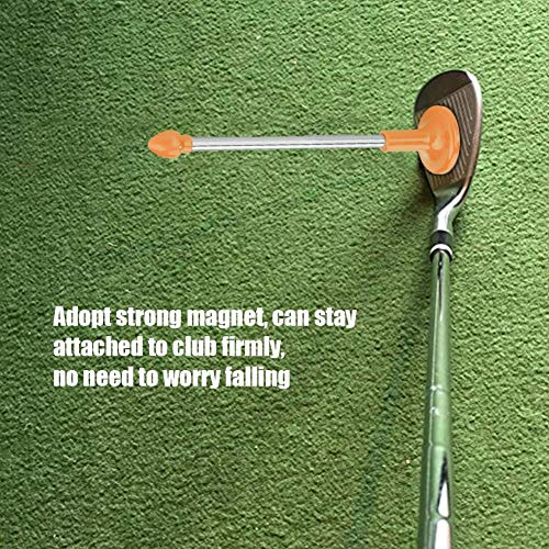Regun Golf Winkel -Gelbe Golf Magnetic Club-Alignment-Stick Demonstriert Correct Golf Swing Ziel Gesicht Aimer Alignment-Ausbildungshilfe-Schwingen