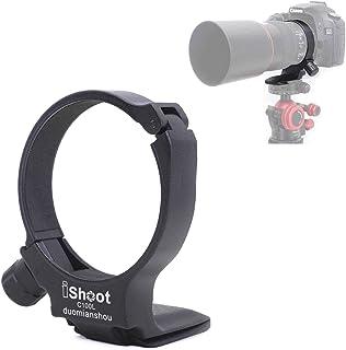CNC Aviation Aluminum Camera Lens Collar Holder Tripod Mount Ring for Canon EF 100mm f/2.8L Macro is USM Lens, Built-in Ar...