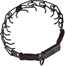 Herm Sprenger Black Stainless Steel Prong Collar with Buckle for Dogs, 3.2mm Large