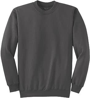 Joe's USA- Men's Tall Ultimate Crewneck Sweatshirt-Charcoal-XLT