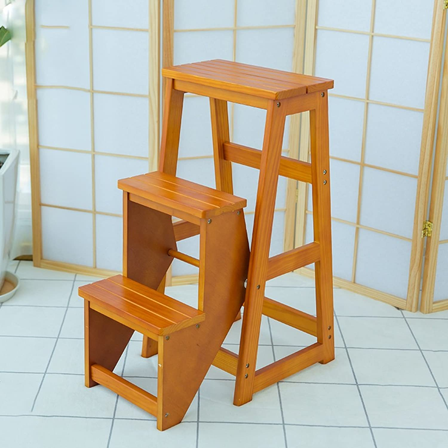 Ladder Stools Wooden Folding 3tier Household Multifunctional Step