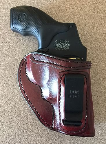 Don Hume Clip On Holster S&W J Frame/ Taurus 85 RH Brown