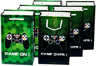 WERNNSAI Game Party Bags - 16 Pack Loot Gift Bags Party Supplies for Kids Boys Birthday Party Favor Treat Goody Bags with ...