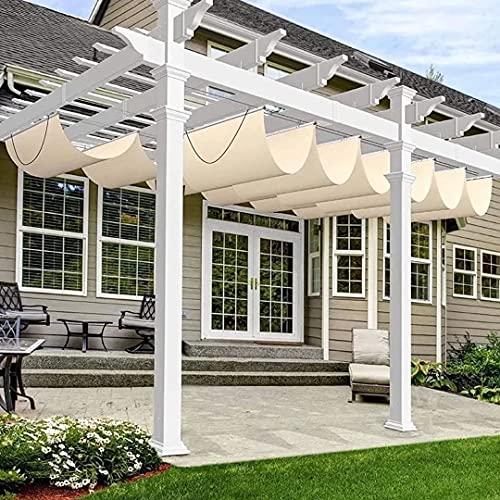 HAOQI Vela de Sombra Rectangular, Plegable protección Rayos UV Impermeable para Patio,...