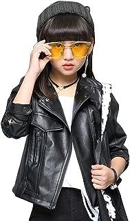 HAPPYJP レザージャケット キッズ 子供服 ガールズ 女の子 アウター ライダースジャケット キッズ フェイクレザー ジャケット 防寒