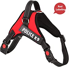 HICA No Pull Dog Harness with Front Clip,Walking Pet Harness with 2 Metal Ring and Handle,Reflective Oxford Padded Soft Vest For Small Medium Large Breed