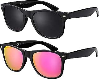 La Optica Original UV400 CAT 3 CE Unisex Sunglasses - Colours, Single / Twin Pack, Mirrored
