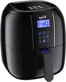 Housmile Airfryer, Oilless Air Fryer Oven, 6 in 1 Electric Hot Air Cooker with Temperature Control, Non Stick Basket and Dishwasher Save, 3.7QT