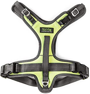 Mighty Paw Sport Harness 2.0, Padded Dog Harness, Adjustable Neck and Chest Straps with Reflective Stitching (Medium, Green)
