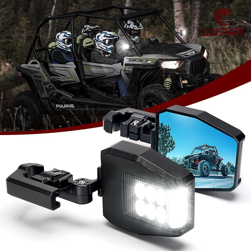 Offroad Nippon New products, world's highest quality popular! regular agency UTV Side Mirrors with Lights Rear Aluminum Vi RZR Lupar